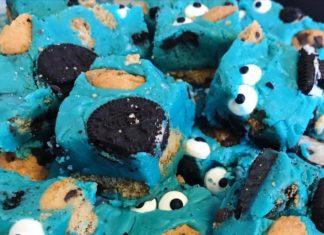 Slow Cooker Cookie Monster Fudge