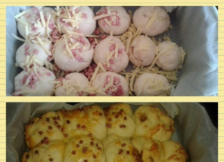 Slow cooked cheese and bacon rolls