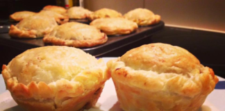 Steak & cheese pies And Bacon pineapple and cheese scrolls Recipes